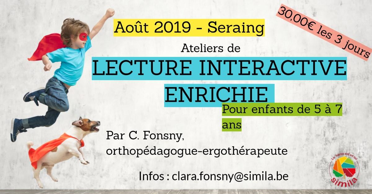 affiche de l'atelier de lecture interactive enrihie